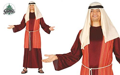 GUIRMA - Disfraz Pastor Belén Vivente, Color marrón/Rojo/Beige, Talla única para Adulto, 42417