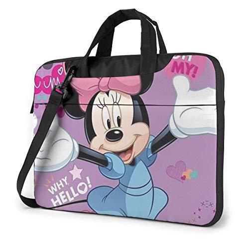15.6 Inch Laptop Bag Hello Minnie Mouse Laptop Briefcase Shoulder Messenger Bag Case Sleeve