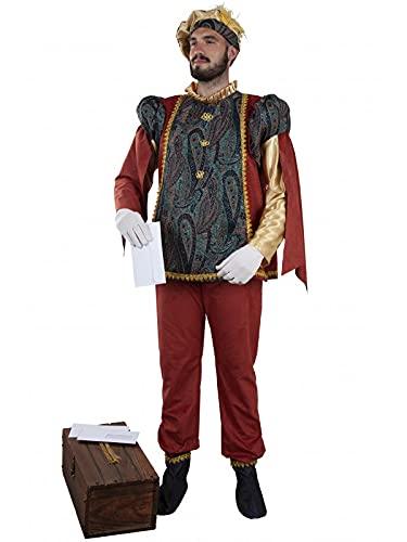 DISBACANAL Disfraz Cartero Real de Navidad - M