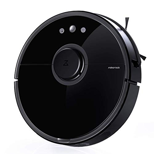 Roborock S5 Robot Vacuum and Mop, Smart Navigating Robotic Vacuum Cleaner with 2000Pa Strong Suction &Wi-Fi connectivity for Pet Hair, Carpet & All Types of Floor (Renewed) Dining Features Kitchen Robotic Vacuums