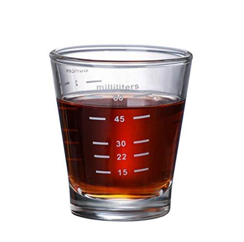 Glas Esspresso Messbecher 80ml Espressoglas Mokka Trinkglas mit Skala Thermoglas Hitzebeständig Shotglas Tequila Latte Kaffeeglas Kaffee Schnapsglas Spülmaschinenfest Espressotasse Klein Whiskeyglas