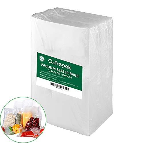 100 Bolsas 25x35cm Bolsas Envasar al Vaci Vacio Alimentos Bolsas de Vacío de Alimentos,Bolsas para Envasar al Vacío Envasado al Vacío para Alimentos.
