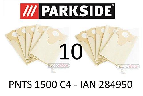 10 Parkside Staubsaugerbeutel 30 L PNTS 1500 C4 Lidl IAN 284950 braun 906-02 - Parkside Nass Trocken Sauger