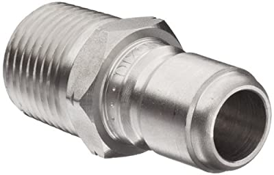 Dixon STMP Series Stainless Steel 303 Hydraulic Quick-Connect Fitting, Plug, Male Coupling x Straight