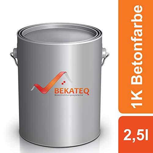 BEKATEQ Betonfarbe LS-470 zur Beschichtung und Versiegelung - RAL9005 Schwarz - 2,5L