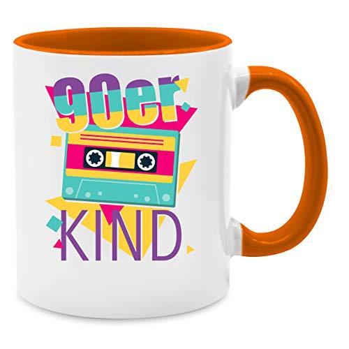 Statement Tasse - 90er Kind - Unisize - Orange - Shirtracer - Q9061 - Kaffee-Tasse inkl. Geschenk-Verpackung