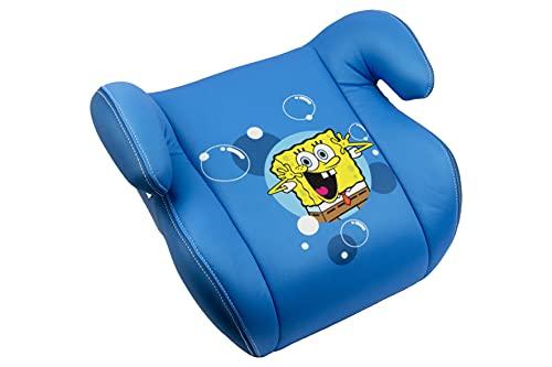 Bob Esponja - Alzador Asiento de coche para niños con funda extraíble de diseño, color azul