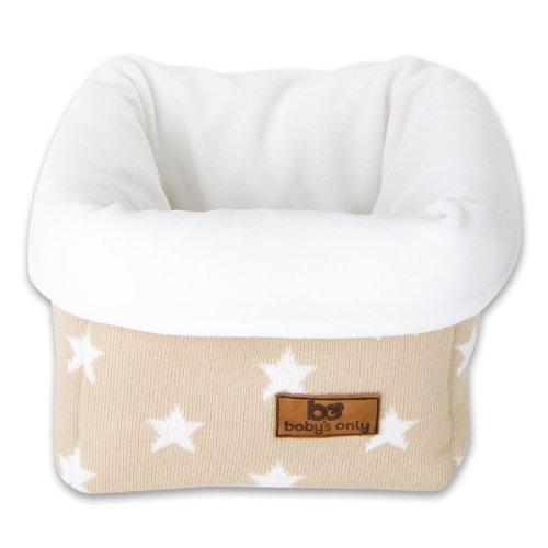 Baby's Only Corbeille de rangement Star beige et blanc - Beige