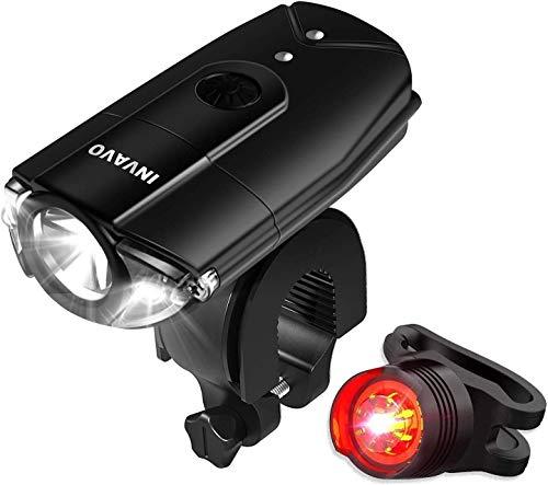 【INVAVO】自転車ライト 1200mah 自転車前照灯 自転車ヘッドライト高輝度 USB充電 タッチスイッチ超小型 LE...