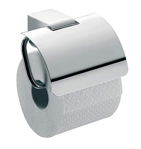 Color Negro Escobilla para Inodoro Emco Loft 51513300 Rectangular, con Soporte de Cristal, Cristal Satinado, Montaje en Pared