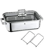 WMF Vitalis Fuente rectangular de cocción al vapor con Rejilla, acero inoxidable pulido, 6.5 L