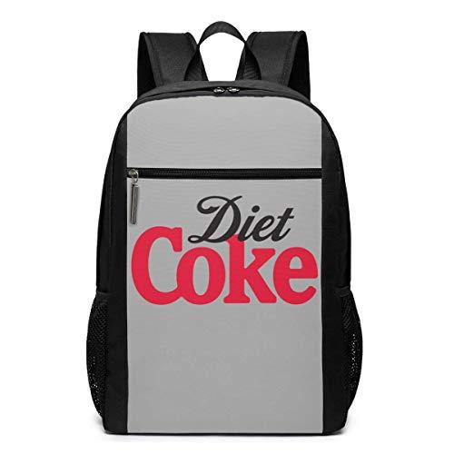 Ahdyr Mochila de novedad Lightweight Diet Coke Mochila multifunción para portátil de escuela universitaria de 17 pulgadas