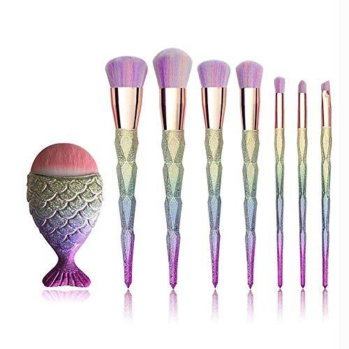 MEISINI Maquillage pinceaux outils de visage de poudre de lèvre fard à paupières cosmétiques composent kits de brosse, 8pcs brosses ensemble