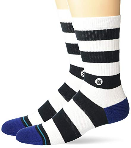 Stance Crew Sock Mariner St - Calcetines para hombre - Negro - Large