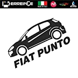 ERREINGE Sticker compatibile per FIAT 500 DOWN OUT DUB JDM TUNING BIANCO Adesivo prespaziato in PVC per Auto Lunotto Finestrino cm 12