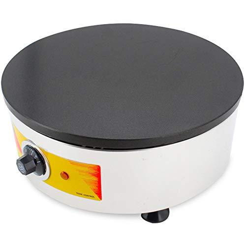 Crepera Comercial De 3.2KW, Esparcidor De Masa Redondo De Una Sola Cabeza Con Placa Calefactora De 15.7 Pulgadas De Diámetro, Plancha Eléctrica Para Crepes De 0-250 ℃ Para Tortillas Blintzes