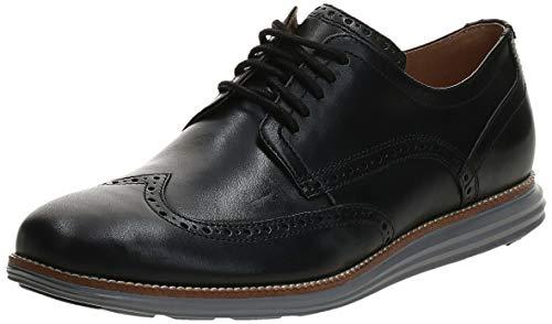 Cole Haan Men's Original Grand Shortwing Oxford Shoe, Black Leather/Ironstone, 7 Medium US