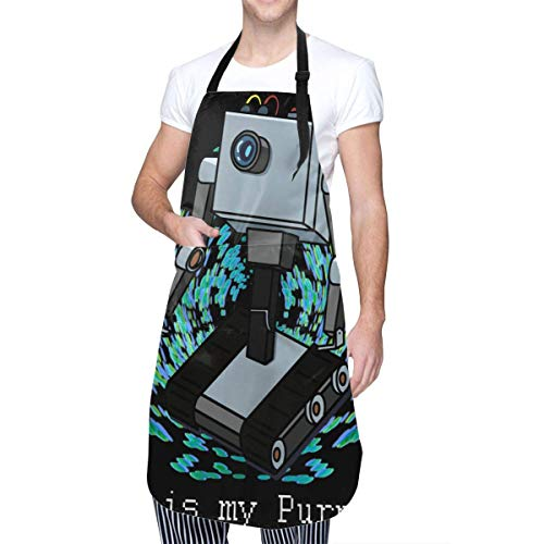 Delantal de Cocina Robot de Anime & Butter con Bolsillo para Hombres y Mujeres