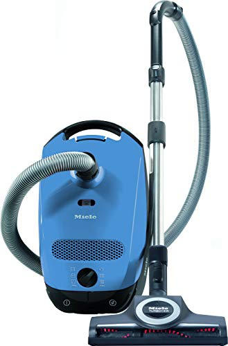 Miele Classic C1 Turbo Team Bagged Canister Vacuum, Tech Blue