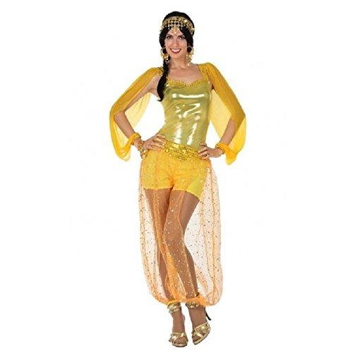 Atosa- Disfraz mujer rabe, Color dorado, XS-S (15835)