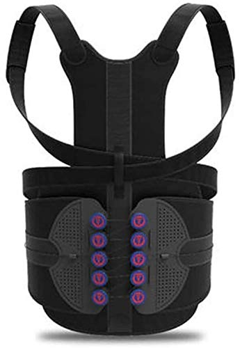 yxx Corrector Cinturón de corrección de Postura jorobada Tipo polea - Soporte Lumbar para Fractura por compresión - Corrector de Postura espinal, XS (Size : Small)