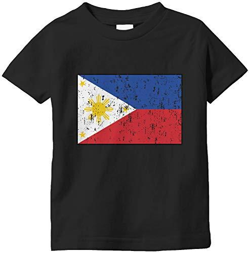 Amdesco Philippines Flag Filipino Infant T-Shirt, Black 18 Month