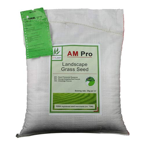 10kg Top Quality Grass Seed/Lawn Seed - (A1LAWN AM Pro Landscape) - Covers Approx. 285 sq metres - DEFRA...