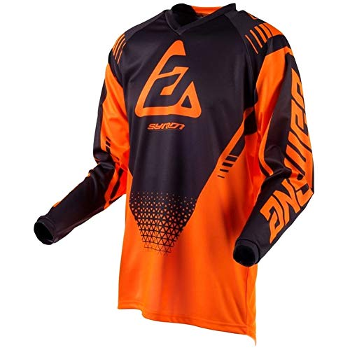 Answer Syncron Drift Youth Herren Motocross Jersey - Schwarz/Orange - Flo Orange/Anthrazit, XL
