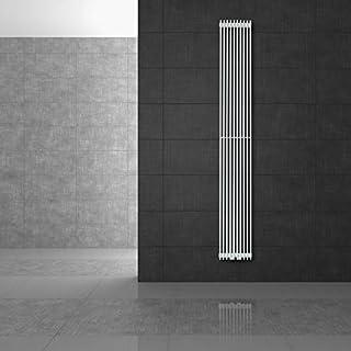 ECD Germany DHK Tilbrook Radiador toallero de baño - 345 x 1500 mm - Blanco - Radiador calentador y secador de toallas - No eléctrico - Radiador de pared - Radiador calefactor de baño