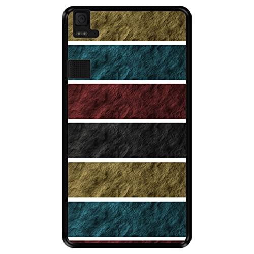 Hapdey silikon Hülle für [ Bq Aquaris E6 ] Design [ Steinmauer Textur ] Schwarze Flexibles TPU