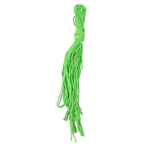 BeesClover 10 Pcs Cadena Cable de 100% Poliéster yoyo Verde