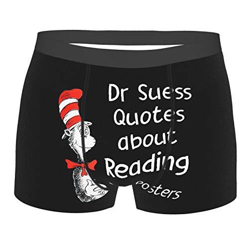 Anime Novelty Dr. Seuss Boxer Briefs Fun Underwear Men Pack Wide Waistband Xl Black