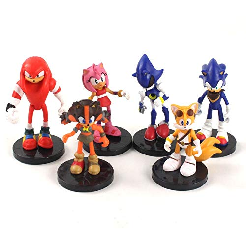 Sonic Figures Juguete 6pcs/Set Sonic Boom Rare Dr Eggman Shadow PVC Action Figures Toy Sonic Shadow Tails Characters Figure Toys For Children