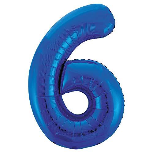 Unique Party Supplies Folienballon im Zahlen-Design, groß, 86,4cm