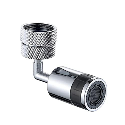 Henreal Grifo universal con filtro de salpicaduras, a prueba de fugas, ahorro de agua, giratorio 720°, aireador de grifo, boquilla de filtro giratoria para el baño de la cocina