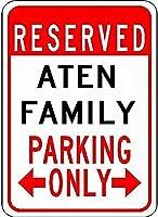 金属サインアテンファミリー駐車場ノベルティスズストリートサイン