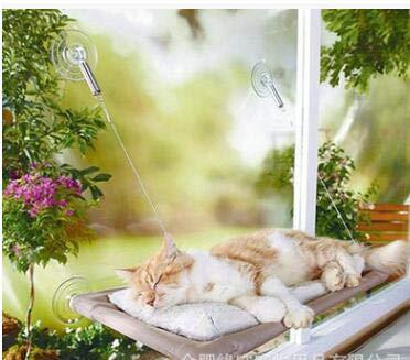 ROSEBEAR Kattenraam Zitstok Raam Op de Stoel Zonnebank Petplank Kitten Zitstok Hoog Ruimtebesparend en Veilige Hangmat Met Duurzame Heavy Duty Zuignappen