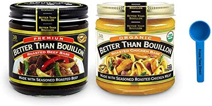 Better than Bouillon Combo Pack Beef Base 8 oz Organic Chicken Base 8 oz 2 Pack 1 each Bundled product image