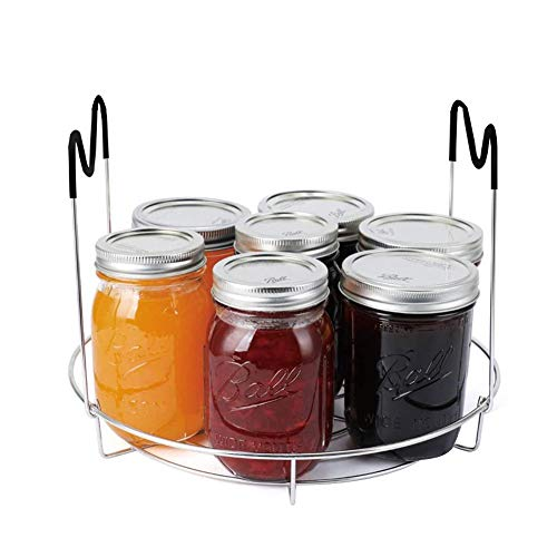 Canning Rack, Stainless Steel Canning Jar Rack, Canner Rack, No Rust, Stability, Canning Rack for Regular Mouth and Wide Mouth Mason Jars, Ball Jars Storage Organizer Draining Rack (Jars not Included)