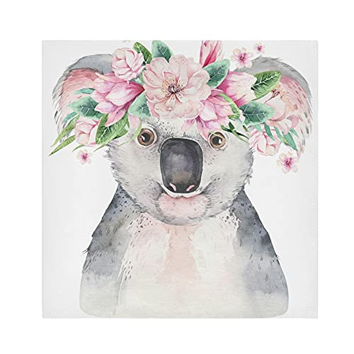 Cloth Napkins Cute Koala Pattern Dinner Napkins Set of 4 Washable Reusable Table Napkins Satin Decorative Napkins for Holiday Dinners Wedding Cocktail Party, 20 x 20 Inch