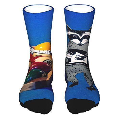 Billardball mit Ständer kurze Laufsocken Athletic Socken für Damen Sport Herren Strümpfe