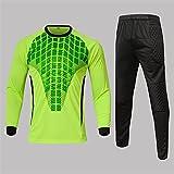 OTGRFS Camiseta de Portero de fútbol, Uniforme de Entrenamiento de fútbol de Manga Larga, Traje de pantalón de Portero,Green,XXL