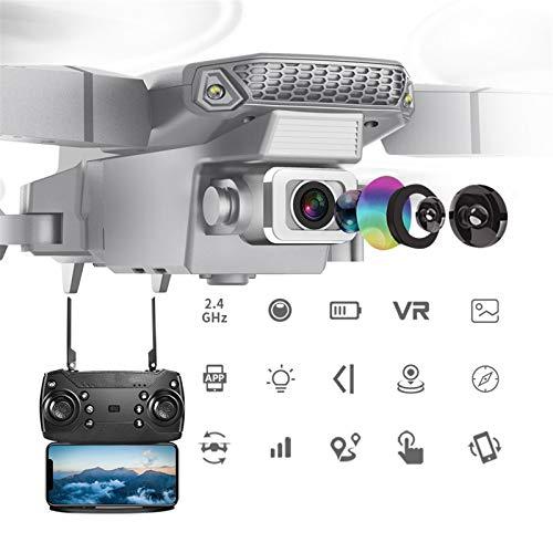 OYZK Drone con HD de Gran Angular HD 4K 1080P WiFi FPV Dual Cámara Altura Mantenga Plegable Quadcopter Mini Drone Regalo Juguetes (Color : 1080p Black 1B)