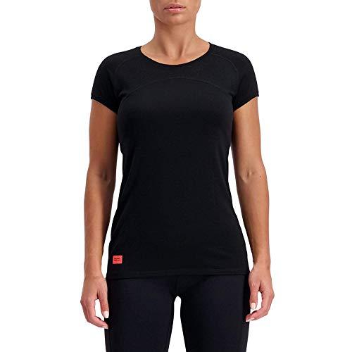 Mons Royale Bella Tech T-Shirt pour Femme XS Noir/Fluo.
