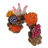 POPETPOP Planta de Coral Artificial Rocosa Acuario Decoración de Paisajismo Pecera Ornamentos de Paisaje de Montaña Artificial Vista del Paisaje para Peces Camarones