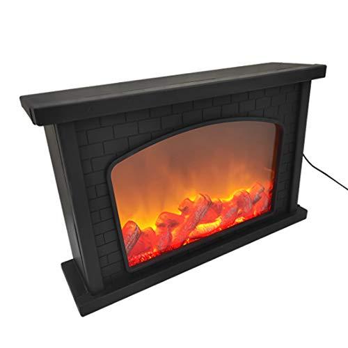 Falso Fuego Chimenea Linterna, LED Simulación Iniciar la grabación de Llama Efecto de luz, USB o Alimentado por batería, Decoración de Interior y al Aire Calor Ambiente