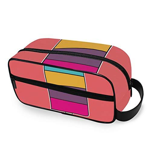 Portable arc-en-crème glacée outils cosmétique train cas trousse de toilette voyage stockage organisateur maquillage sac