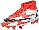 Nike Jr. Mercurial Superfly 8 Academy CR7 MG, Zapatillas de ftbol, Chile Red Black White Total Orange, 34 EU