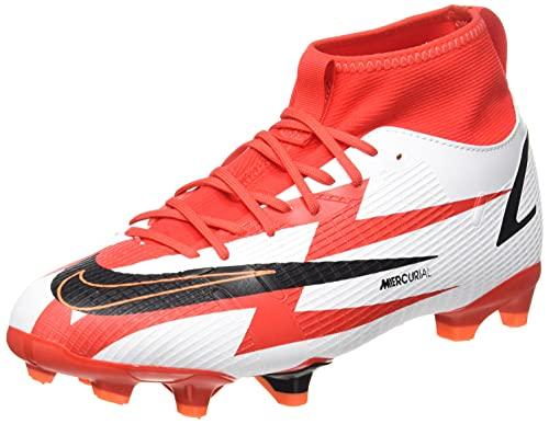 Nike Jr. Mercurial Superfly 8 Academy CR7 MG, Zapatillas de ftbol, Chile Red Black White Total Orange, 32 EU