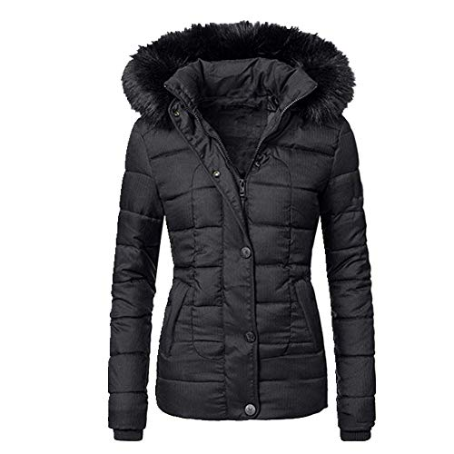 Women Plain Autumn Winter Outwear Tops Outfits Long Sleeve Causal Female Hoodies Overcoats Coat Black